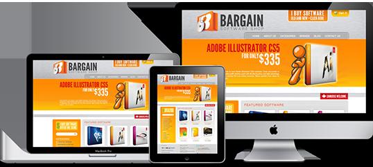 Bargain Software Shop Website Design
