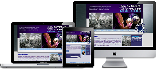 Extreme Fitness Website Design