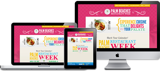 Palm Beach Restaurant Week Website Design