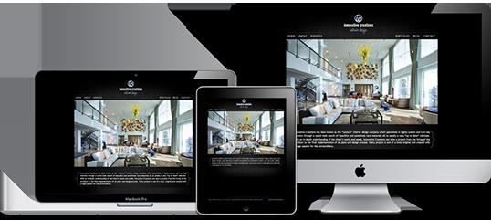 innovative creations website design