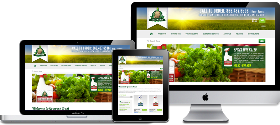 Organic Pesticide Company Website Design