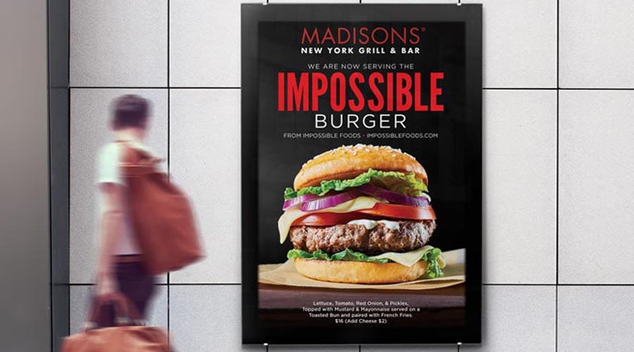 Restaurant Ad Design Madisons 900x500